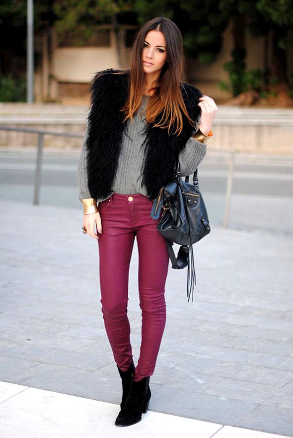 calça-Burgundy