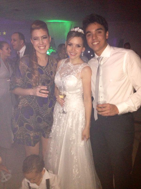 A noiva Valéria e meu amigo/ irmão da noiva Sidney Barros