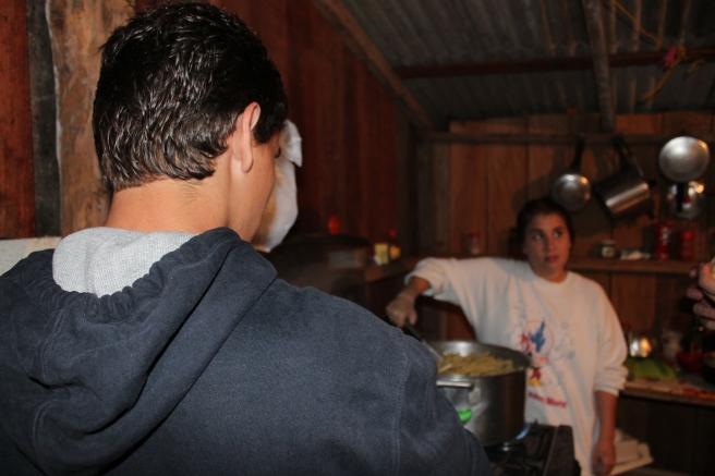 Os cozinheiros oficiais da viagem haha